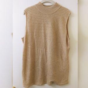 Dana Buchman XL Sleeveless Mock Neck Sweater